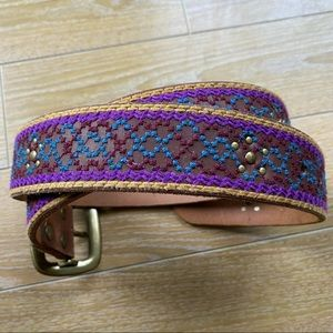 Lucky Brand - Western Embroidered Belt